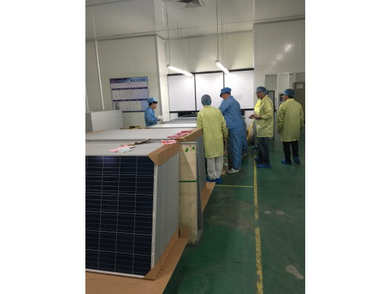 solar panel making process of Final test and Packing