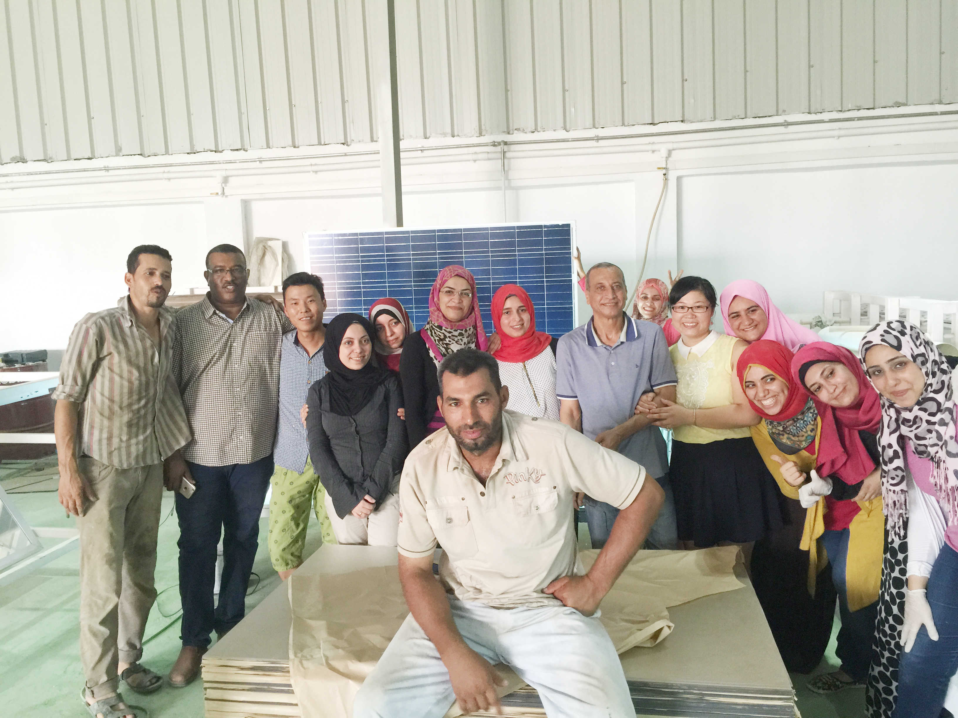 10MW solar panel production line factory build in Egypt
